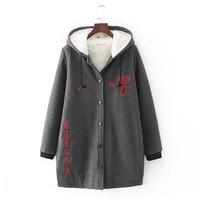 Autumn Winter Women Cotton Plus Size Long Hoodies Sweatshirts Thickening Warming Big Size Zip Up Fashion