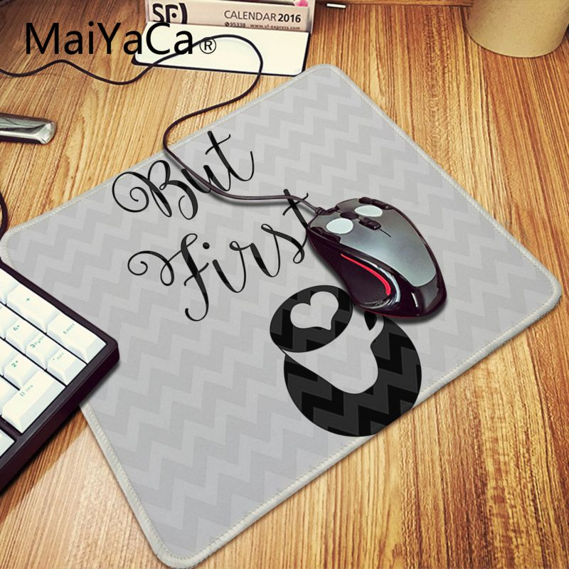 Maiyaca Okbut First Coffee Wallpaper Laptop Computer Anime Mousepad