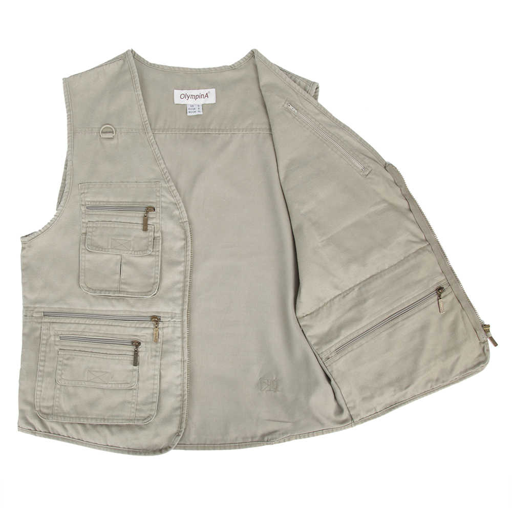 29d3655e36c ... Fishing Vest Male With Many Pockets Men Sleeveless Jacket Blue Waistcoat  Work Vests Outdoors Vest Plus