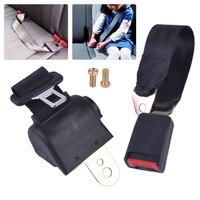 DWCX 2 Point Universal Seat Belt Retractable Seat Safety Lap Belt Adjustable Security Strap Buckle For