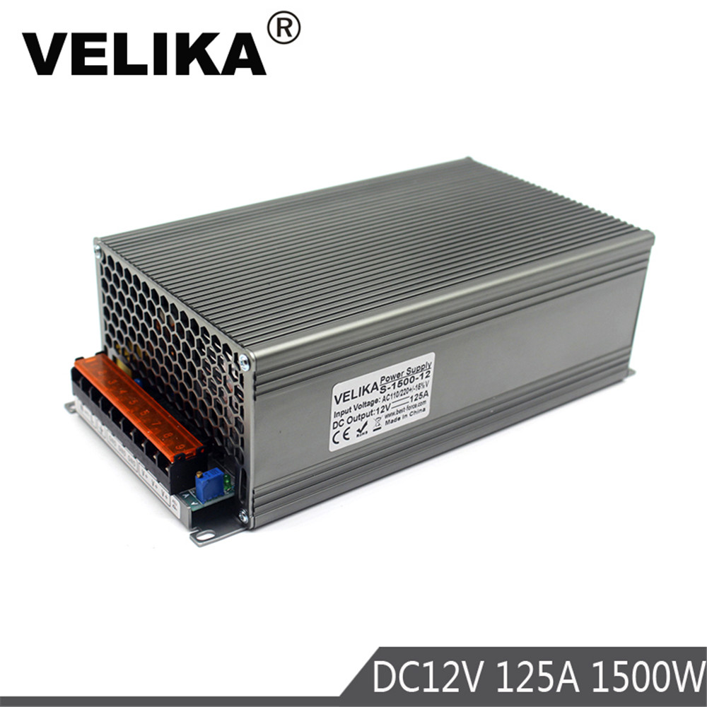Universal DC12V 125A 1500W Switching Switch Power Supply Transformer 110v 220v AC DC 12V SMPS for