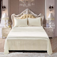 Satin Silk Bedding Set Home Textile Bed Sheet Set Flat Sheet Flat Sheet Pillowcases Wholesale 4 Pcs Queen Twin Size Bed Sheets bed sheet альвитек 214 220 cm pink satin
