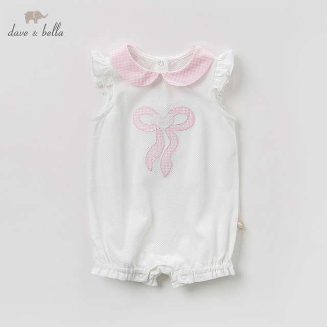 611c44bc6 DB10463 Dave bella new born baby girls fashion cotton print jumpsuits  infant toddler clothes children summer cute romper 1 piece