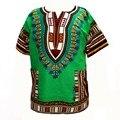 (Быстрая доставка) 2016 Новые Моды Дизайн Традиционной Африканской Печати 100% Хлопок Dashiki Футболка для унисекс (В ТАИЛАНДЕ)