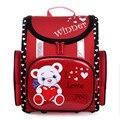 Delune niños mochila mochilas para niños niñas nuevo diseño lindo oso de dibujos animados mochilas mochilas de alta calidad de seda impresa
