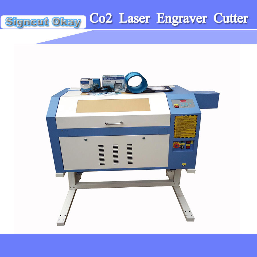 CO2 Laser Engraver Cutter 60W Laser Tube Protector System/Working Light/USB Interface/Red-light Pointer Free Shipping
