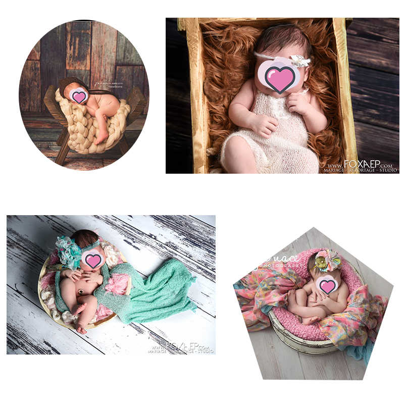 Photographie toile de fond pour bébé nouveau-né mur texture vieux patiné bois bloc minable Chic rustique gris brun vinyle rétro fond