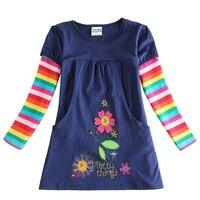 Retail 2016 New Nova Brand Dress Baby Girl Cartoon Children Lace Tutu Princess Dresses Vestidos Child