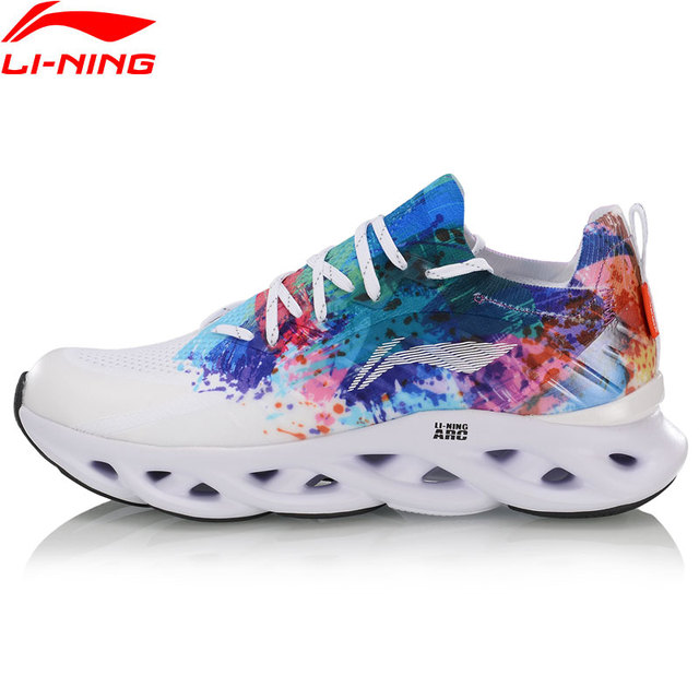 Li ning נשים LN קשת כרית נעלי ריצה לנשימה סניקרס מונו חוט רירית לביש ספורט נעלי ARHP108 SJAS19
