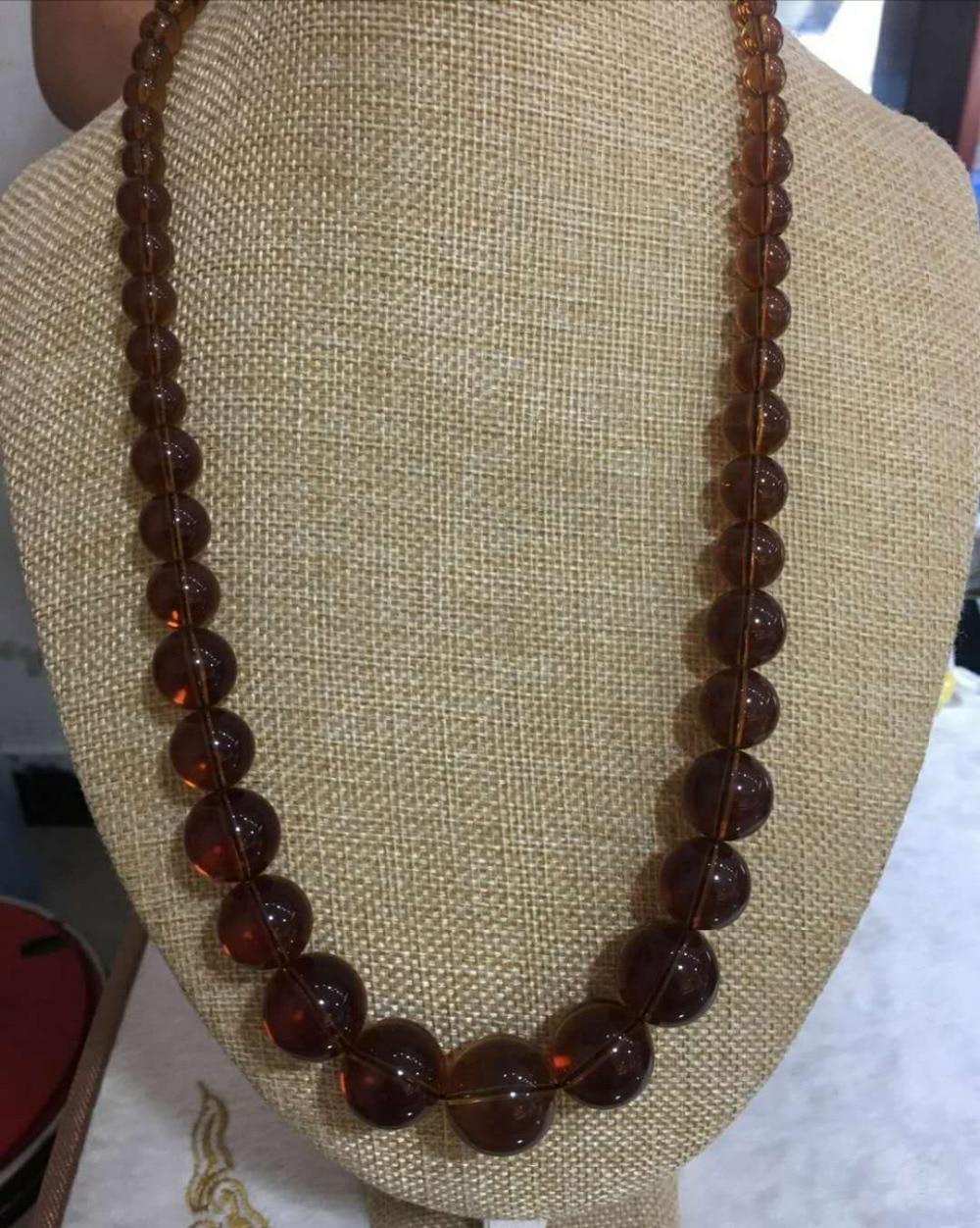 Collier ambre vague de thé collier de perles cire de miel chaîne de chandail ambre
