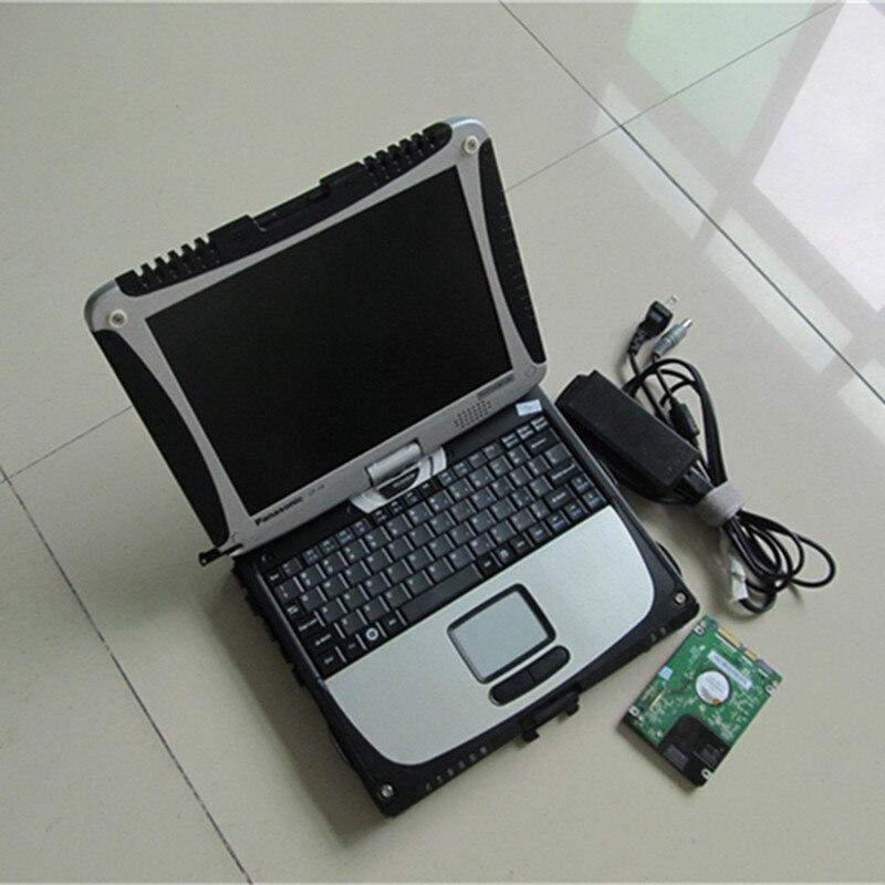 Laptop de Diagnóstico Do carro para Panasonic Toughbook Cf 19 Tablet PC (Robusto, Tela Sensível Ao Toque, 4 gb de RAM) com HDD WIN7 Sistema