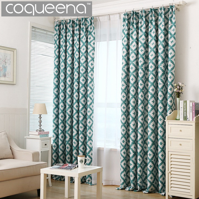 Geometric Print Modern Curtains For Living Room Bedroom