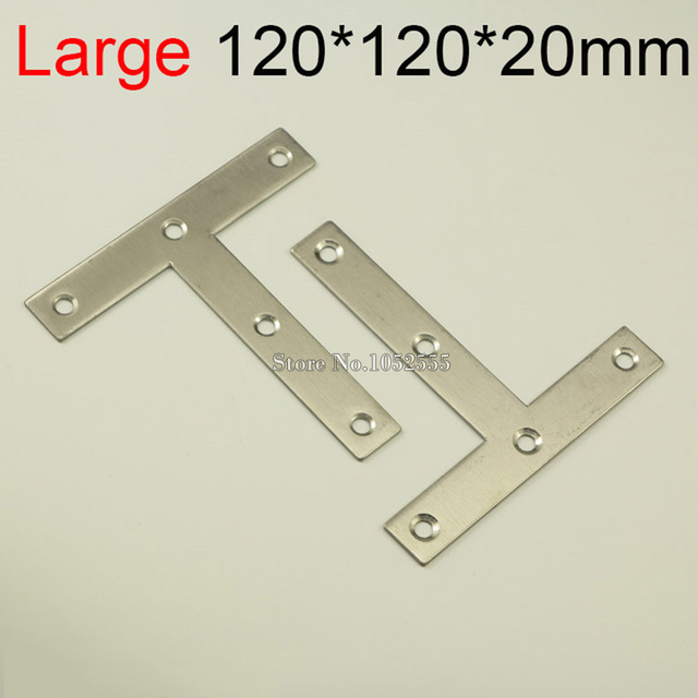 10PCS 120*120mm stainless steel furniture corners bracket T shape ...
