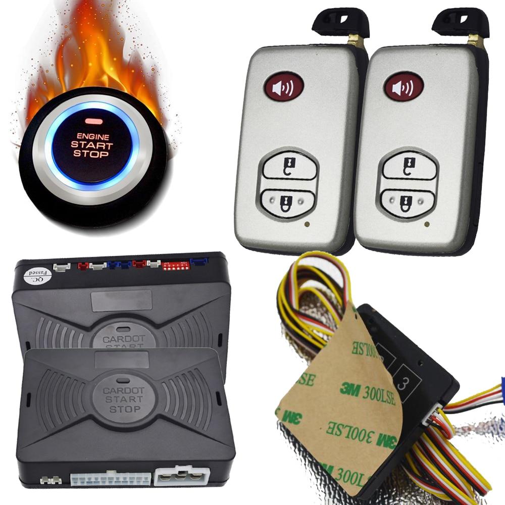 Système d'alarme intelligent de voiture avec protection de protection automatique entrée sans clé moteur démarrage bouton d'arrêt capteur de choc alarme déclencheur sortie gps
