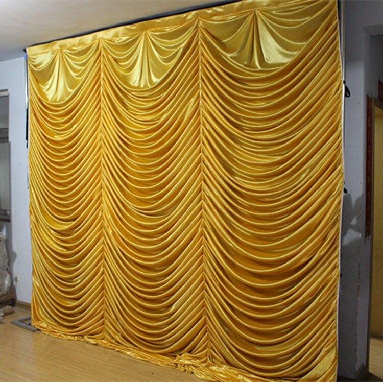 3 M x 3 M eau chute or mariage toile de fond poisson échelle scène rideau rideaux de mariage