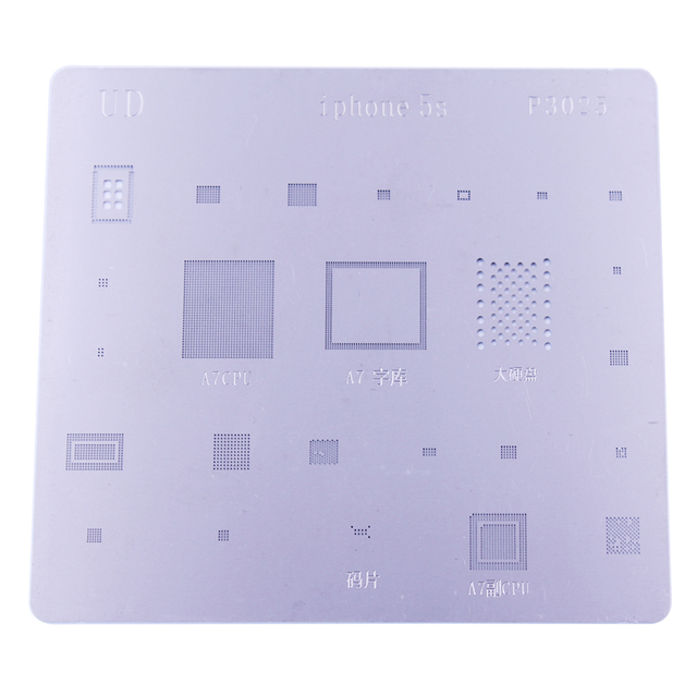 New BGA Reballing Stencil Kits Solder Template Set For iPhone 5s 6 6s Plus IC Chip Rework Repair Tools