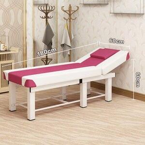 Image 2 - Profesyonel Spa Masaj Masaları Katlanabilir Salonu Mobilya PU katlanır yatak Çok Fonksiyonlu Kalın güzellik yatağı