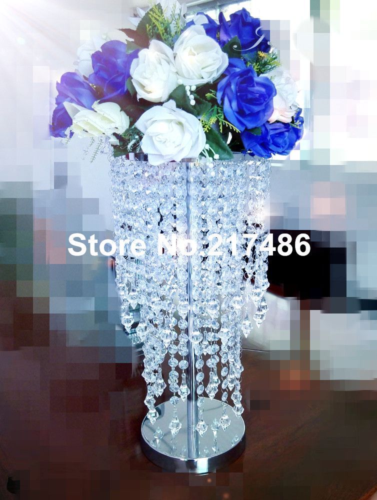 Tall clear acrylic vases for wedding centerpieces glass