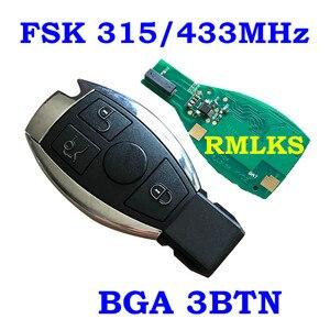 Image 5 - Smart Remote Key 315MHz 433MHz Auto Auto Fit Für Mercedes Benz 2000 + NEC BGA Typ Remote Key fob Für MB Mit Emeregcny Schlüssel Klinge