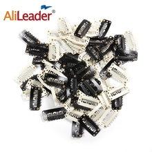 Alileader 12 шт черные зажимы для париков из нержавеющей стали