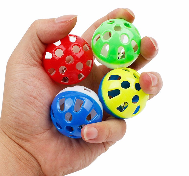 plastic colorful ball toy for cats
