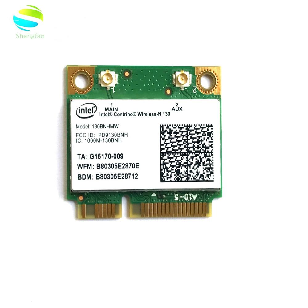Wifi Card for intel Centrino Wireless-N130 130BNHMW 150Mbps+bluetooth3.0 Half Mini PCI-e Wireless Card(China)