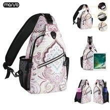 MOSISO 2019 Women Sling Backpack for iPad Case 2017 9.7 Waterproof Travel Crossbody School Student Chest Bag