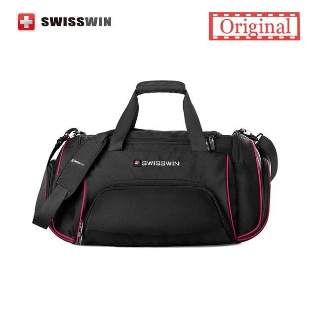 Swisswin Hot Bag Men Travel Bags Women Luggage Travel Duffle Bags Lightweight Travel Handbag Folding Bag For Trip Waterproof