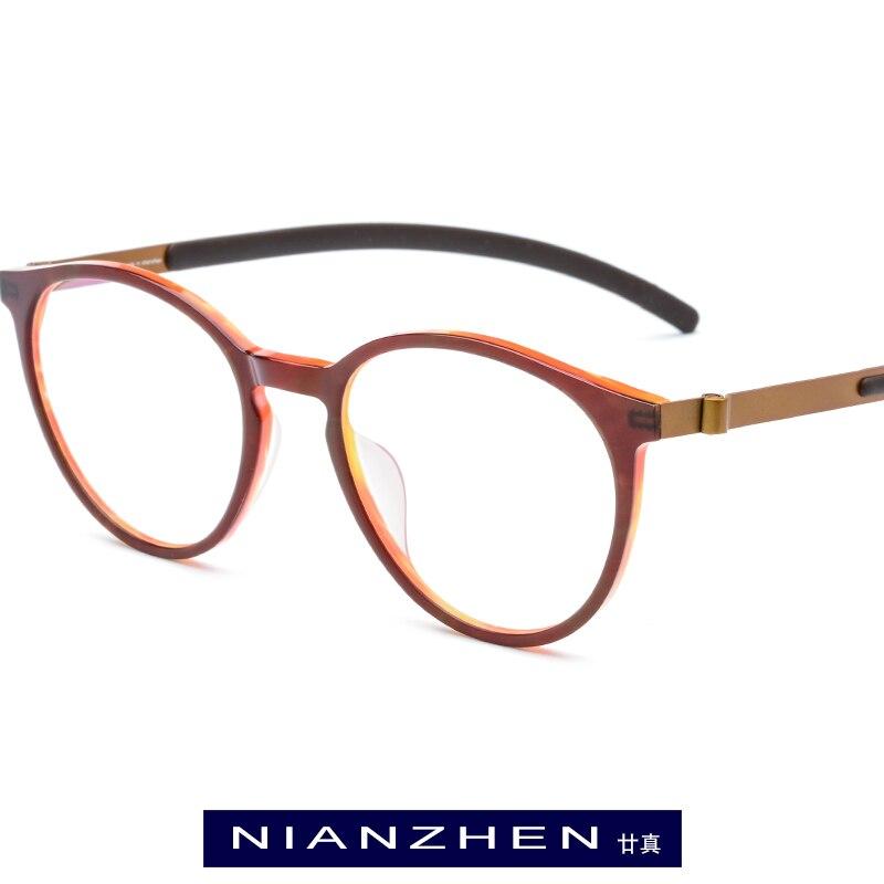 B Titan Acetat Brillen Rahmen Frauen Elastische Runde Optischen Rahmen Brillen für Männer Vintage Brillen Japan Brillen 19105-in Brillenrahmen aus Kleidungaccessoires bei AliExpress - 11.11_Doppel-11Tag der Singles 1