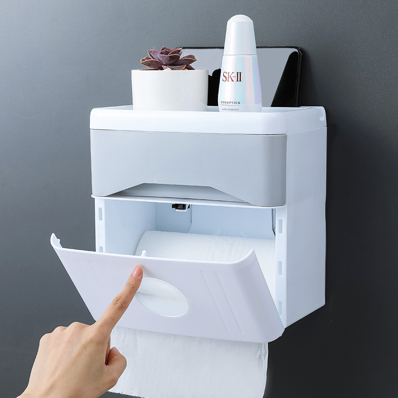 Cute Tissue Box Bathroom Paper Bag Grids Pattern Home Decor Toilet Supply 1 Pc
