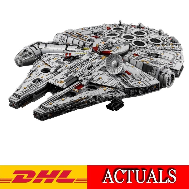 2018 Nuovo Lepin 8445 Pz 05132 Star War Ultimate collector Millennium Falcon Modello Kit di Costruzione di Blocchi di Mattoni Bambini Toy75192