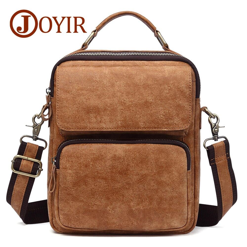 JOYIR Genuine Leather Mens Crossbody Bags Small Flap Casual Shoulder Messenger Bag New Men's Travel Crossbody Bags For Men 1309