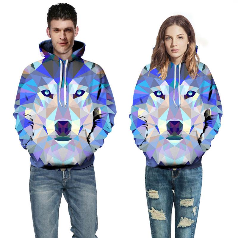 Mr.1991INC New Fashion Wolf Hoodies Men/Women Thin 3d Sweatshirts With Hat Print Colorful Blocks Wolf Hooded Hoodies Colorful  Wolf  Hoodies HTB17