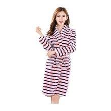 f0c3f57ea5 Winter Womens Nightgowns Flannel Warm Bathrobe Nightwear Kimono Dressing  Gown Sleepwear Soft Bath Robe For Ladies
