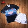 Retro camisa de futebol sublimação colorido padrão de impressão camisa camisa dos homens s de futebol personalizado futebol jerseys personalizado