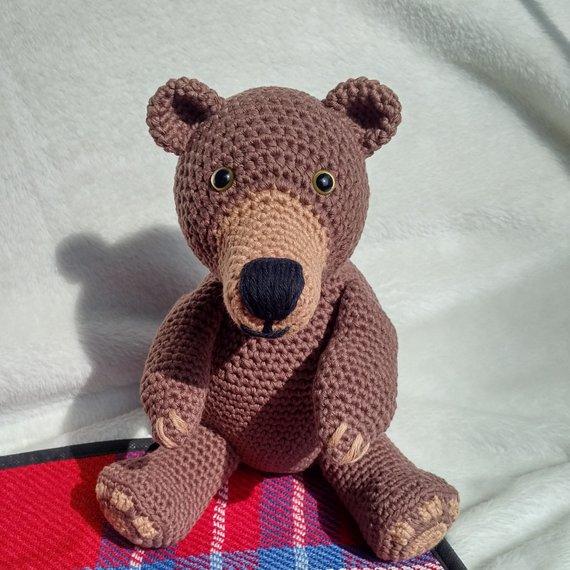 Crochet Armigurumi Rattle   Bear    Model Number 82