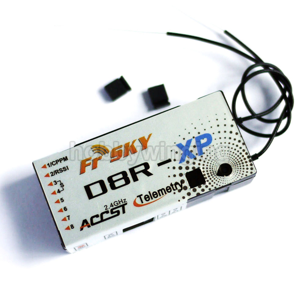 ФОТО FrSky 2.4G 8CH D8R-XP D8RXP Telemetry Receiver Compatible with FrSky DFT DJT DHT DHT-U