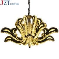 M lago dos cisnes de cristal lâmpadas led tiras 3/6/8 cabeças de cristal k9 ouro sala personalidade artística luzes luzes do quarto