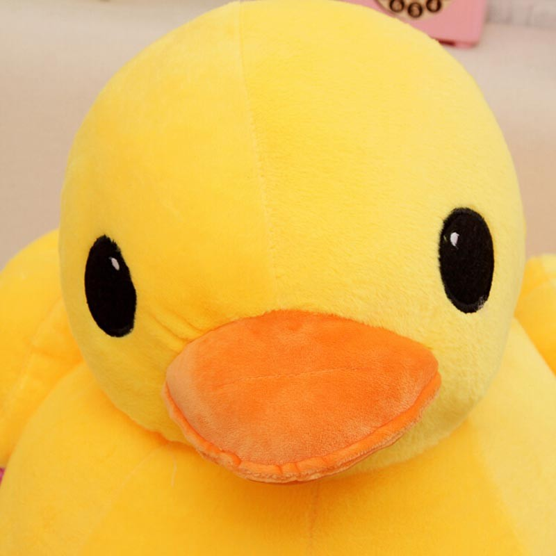 GGS 20cm 30cm Big Yellow Duck Stuffed Animals Plush Toy, Cute Big - Boneka dan mainan lunak - Foto 3