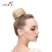 SARLA 1PC Synthetic Hair Chignon Resist High Temperature Ring Donut Buns Up Do Hair Extensions 21 Colors Available Q3