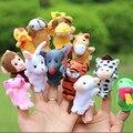 Кукольный Finger Куклы Портативный Мультфильм Детские Развивающие Игрушки Милый Биологическая Животных Finger Кукол Плюшевые Игрушки для Детей Детские Пользу Куклы