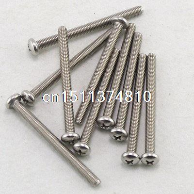 50  Metric M5 60mm Stainless steel Cross Recessed Pan Head Screws  цена