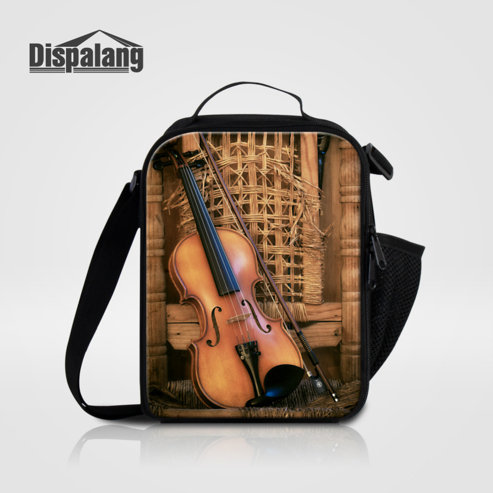 Lunch Bags Knowledgeable Dispalang Students Portable Lunch Bags Violin Printing Picnic Lunch Box For Children Office Worker Insulated Small Food Bag Punctual Timing