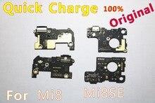 Original Für Xiaomi Mi8 Mi8se Ladung Bord Mi8 Mi8se Lade Schnell Ladegerät Dock Connector Port Bord Micro Flex kabel