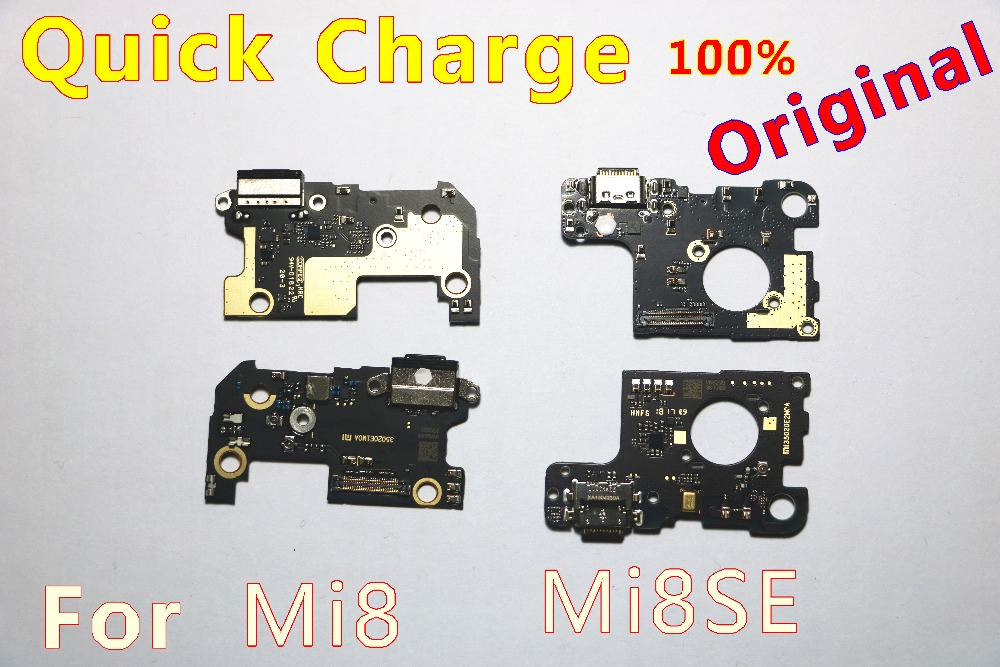 Original For Xiaomi Mi8 Charge Board Mi8 Mi8se Charging Fast Charger Dock Connector Port Board Micro Flex Cable