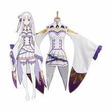 Re Zero kara Hajimeru Isekai Seikatsu Emilia Cosplay Costume