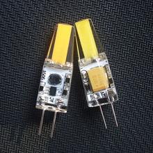 [MingBen] 5pcs G4 LED Bulb 3W 12V DC 220V AC LED COB Bulb Replace Halogen Lamp High Bright For Chandelier Warm white Cold White