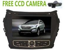 Фабрика автомобиля DVD GPS для Hyundai IX45 Santafe Santa Fe 2013 2014 + freeccd камера + Bluetooth + USB + скольжения меню + бесплатная карта + phonelink