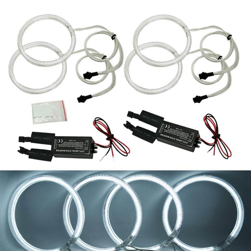 4x 120mm White 6000K Car CCFL Halo Rings Angel Eyes LED Headlights for BMW E32 E34
