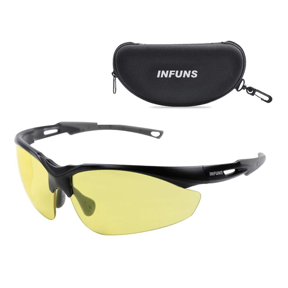 New Safety Glasses With Case Protective Eyewear Clear Anti Scratch Anti-fog Resistant Lens Ballistic Standard UV 400 Protection